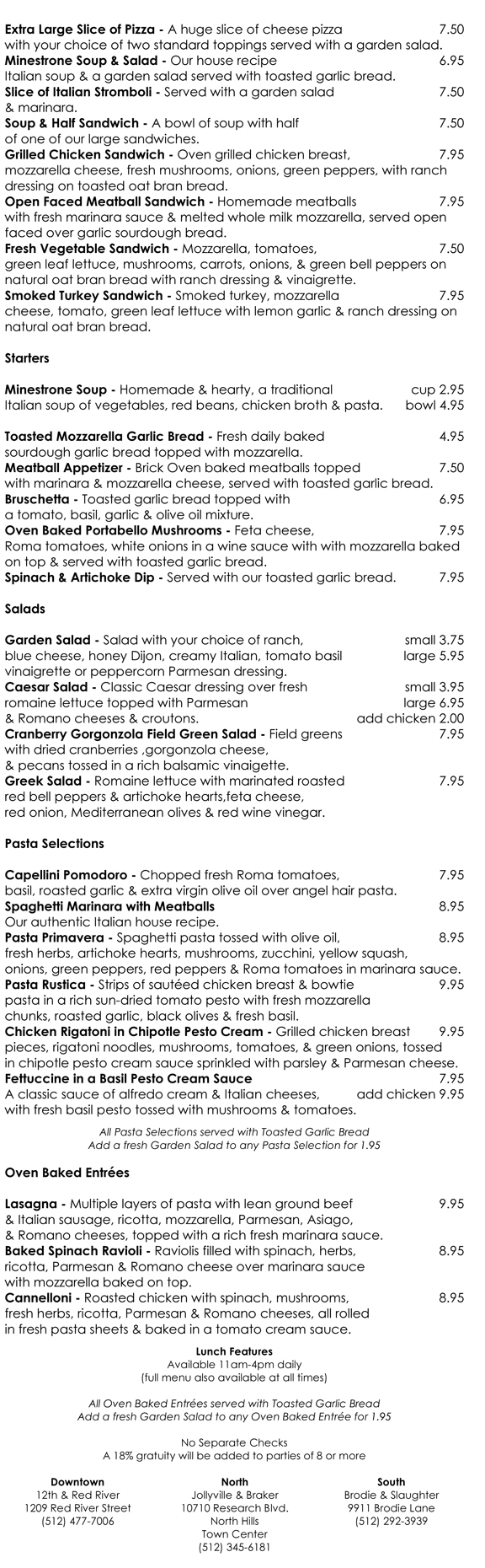 lunch menu beta
